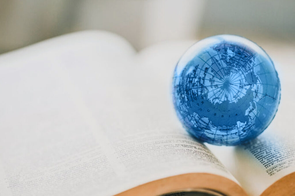 JNW Book with small globe