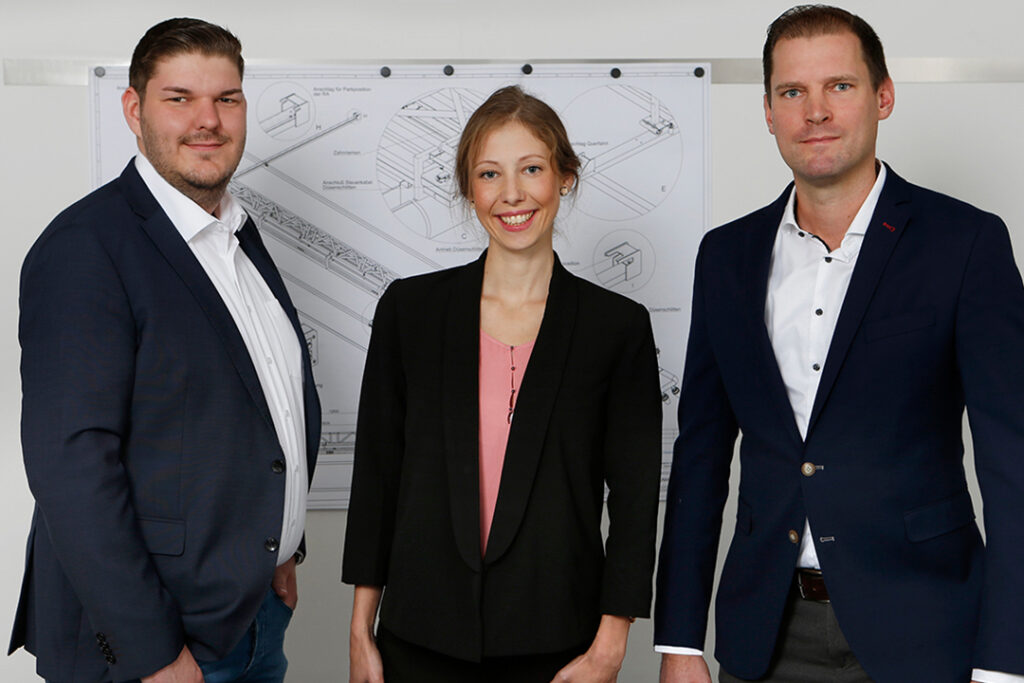 The sales team JNW Cleaning Solutions: Kreuch, Kerski, Noack
